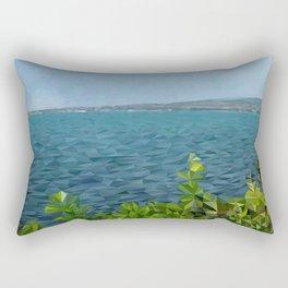 Sea landscape in polygon technique Rectangular Pillow