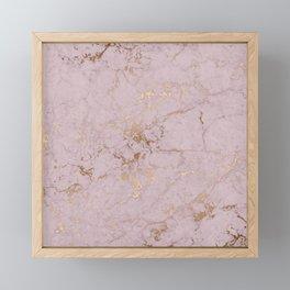 Chic mauve pink gold elegant stylish marble Framed Mini Art Print
