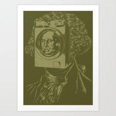 George WASHINGton Machine Art Print