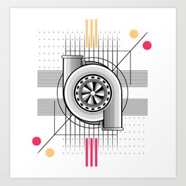 Turbo engine Art Print