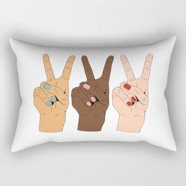 Peace Hands 3 Rectangular Pillow