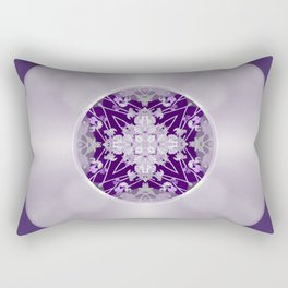 Vinyl Record Illusion in Purple Rectangular Pillow