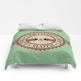 Certified Crazy Sloth Lady Comforters