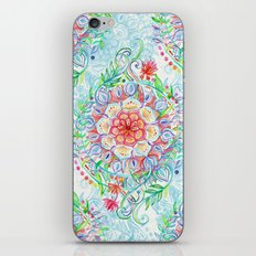 Messy Boho Floral in Rainbow Hues iPhone & iPod Skin