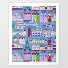 J'adore Paris Art Print