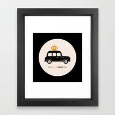 London royal queen cab Framed Art Print