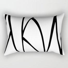 Modern Sweeping Line Art Print Rectangular Pillow