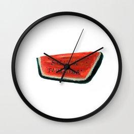 Fan's illustration - Watermelon ceramic in Taormina Sicilia Wall Clock
