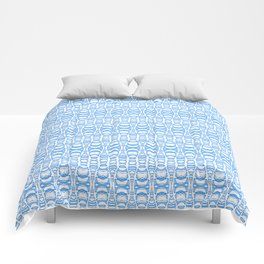 Dividers 07 in Light Blue over White Comforters