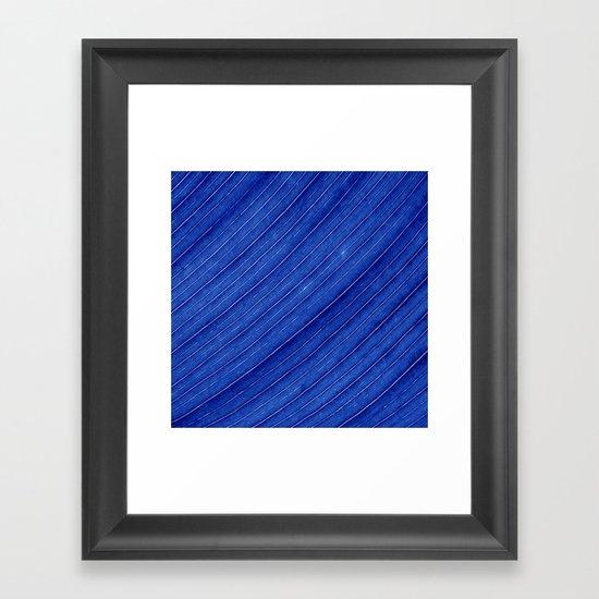 blue leaf II Framed Art Print