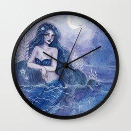 Moonlight Mermaid Wall Clock