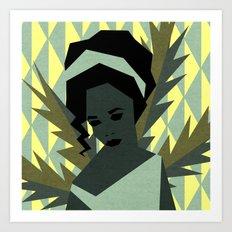 The shy girl Art Print