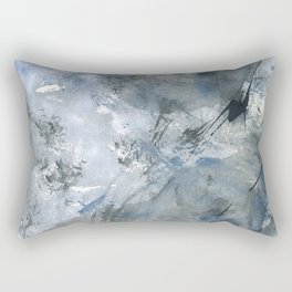 if i could undo . take back . those words said that hurts Rectangular Pillow