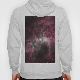 Abstract Purple Space Image Hoody