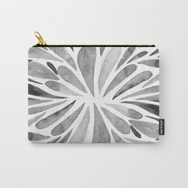 Symmetric drops - black and white Carry-All Pouch