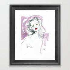 Hedy Lamarr in Watercolour Framed Art Print