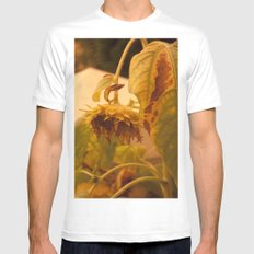 The Sun has Set and tomorrow, God willing, it will rise again [SUNFLOWER] [WILTING] [YELLOW SKY]  White Mens Fitted Tee MEDIUM