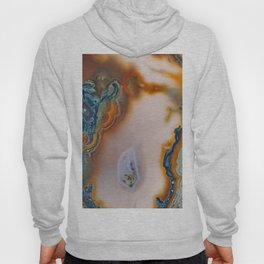 Translucent Teal & Rust Agate Hoody