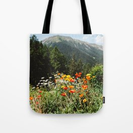 Mountain garden Tote Bag