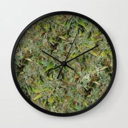 cannabis bud, marijuana macro Wall Clock