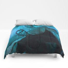 Blue dance Comforters