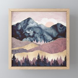 Mauve Vista Framed Mini Art Print