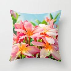 Pua Melia ke Aloha Maui Throw Pillow