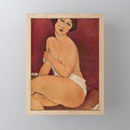 Amedeo Modigliani - Nude Sitting on a Divan Framed Mini Art Print