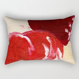 LOVE twin hearts Painted red hearts pattern. Rectangular Pillow