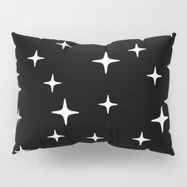 Mid Century Modern Star Pattern 443 Black and White Pillow Sham
