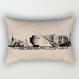 Thessaloniki skyline city Rectangular Pillow