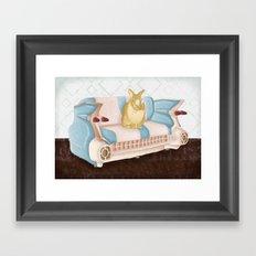 Bunny Business  Framed Art Print