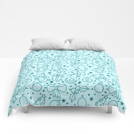 Cute Doodle Christmas Pattern Comforters