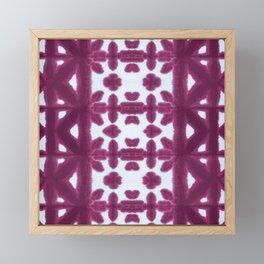 Maroon Pima Shibori Framed Mini Art Print