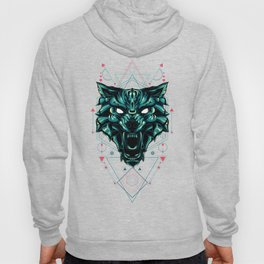 The green wolf sacred geometry Hoody