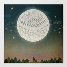 Light up the moon Canvas Print