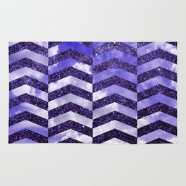 Cloudly Starry Sky -Purple Rug