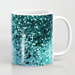 Aqua Blue OCEAN Glitter #1 #shiny #decor #art #society6 Coffee Mug