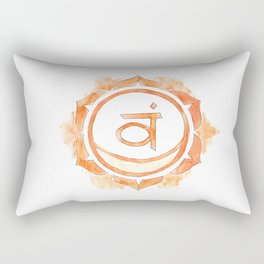 Svadhisthana chakra watercolor painting Rectangular Pillow