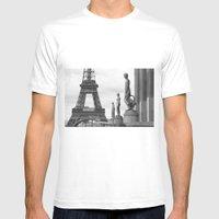 Paris MEDIUM White Mens Fitted Tee