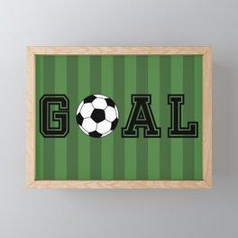 Goal Framed Mini Art Print