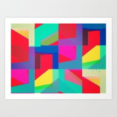 Colorful Truth. Red Art Print