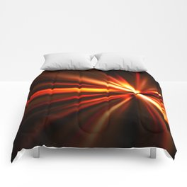 explosion of a star Comforters