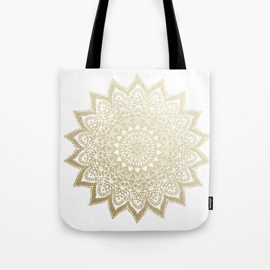 BOHO NIGHTS GOLD MANDALA Tote Bag