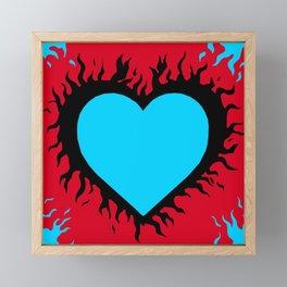 Flaming Heart Framed Mini Art Print