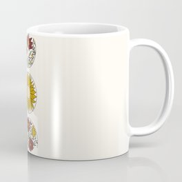 Floral Phases of the Moon Coffee Mug