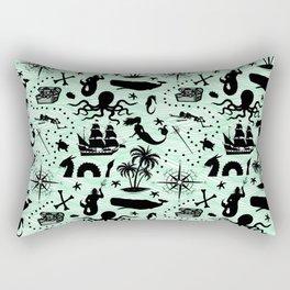 High Seas Adventure // Sea-Green Waves Rectangular Pillow