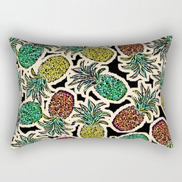 Pineapple Pandemonium Two - Retro Tones Rectangular Pillow