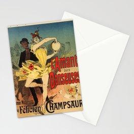 L Amant Des Danseuses Roman Moderniste Par F Licien Champsaur 1888 By Jules Cheret | Reproduction Ar Stationery Cards
