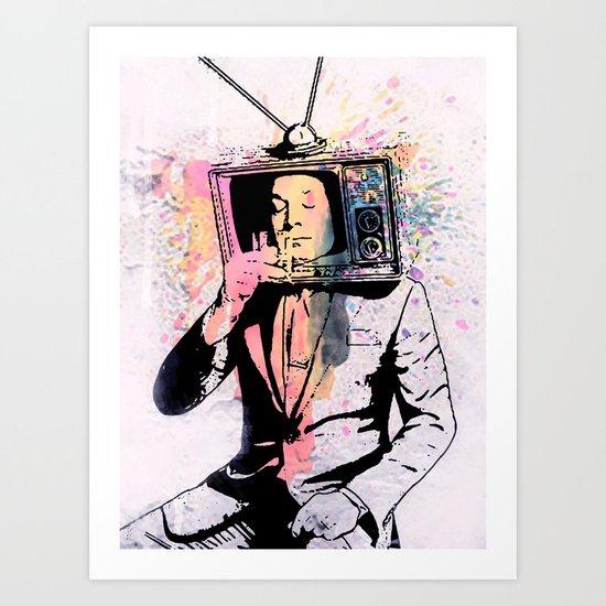 tv man Art Print